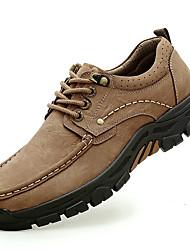 Недорогие -Муж. Официальная обувь Наппа Leather Весна Классика / На каждый день Туфли на шнуровке Массаж Темно-русый