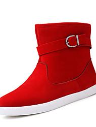Недорогие -Муж. Зимние сапоги Полиуретан Зима На каждый день Ботинки Сохраняет тепло Сапоги до середины икры Черный / Красный