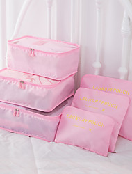 Недорогие -6 комплектов Дорожная сумка Органайзер для чемодана Дорожная косметичка Кубы для упаковки Компактность Складной Прочный Хранение в дороге