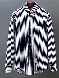 Недорогие -мужской выход / работа тонкая рубашка - цветной ворот рубашки блока