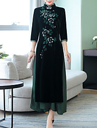 billige -kvinders slanke kappe kjole maxi stand