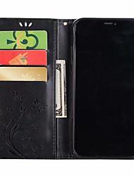 Недорогие -Кейс для Назначение Apple iPhone XS / iPhone XR / iPhone XS Max Бумажник для карт / Стразы / Флип Чехол Бабочка / Стразы Мягкий Кожа PU