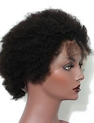 Недорогие -Натуральные волосы Полностью ленточные Парик Монгольские волосы Афро Квинки Парик Глубокое разделение 130% Плотность волос Подарок Горячая распродажа Удобный Нейтральный Жен. Длинные