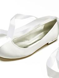 ... Zapatos Confort Satén Primavera verano Zapatos de boda Tacón Plano Dedo  redondo Purpurina   Hebilla Borgoña   Champaña   Marfil   Boda   Fiesta y  Noche b2a8800ba2f1