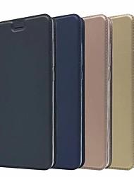 abordables -Coque Pour Nokia Nokia 9 / 8 Sirocco Porte Carte / Avec Support Coque Intégrale Couleur Pleine Dur faux cuir pour Nokia 9 / Nokia 8 / 8 Sirocco