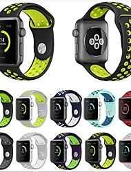 Недорогие -Ремешок для часов для Apple Watch Series 4/3/2/1 Apple Спортивный ремешок силиконовый Повязка на запястье