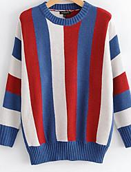 billige -Dame Basale Pullover - Farveblok