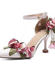 Недорогие -Жен. Комфортная обувь Полиуретан Весна Обувь на каблуках На шпильке Белый / Розовый / Свадьба / Повседневные