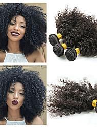 tanie -3 zestawy Włosy malezyjskie Afro Kinky Kinky Curl 10A Włosy naturalne remy Doczepy z naturalnych włosów 8-26 in Natutalne Ludzkie włosy wyplata Najwyższa jakość Nowości Gorąca wyprzedaż Ludzkich