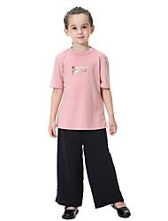 povoljno -Djeca Djevojčice Jednobojni Kratkih rukava Komplet odjeće