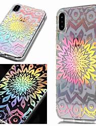 billige -Etui Til Apple iPhone XR / iPhone XS Max IMD / Transparent / Mønster Bagcover Blomst Blødt TPU for iPhone XS / iPhone XR / iPhone XS Max