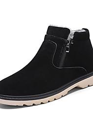 Недорогие -Муж. Зимние сапоги Синтетика Наступила зима Английский Ботинки Дышащий Черный / Коричневый