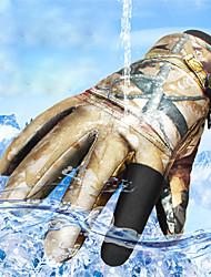 Недорогие -Спортивные перчатки Зимние Лыжные перчатки Муж. Жен. Снежные виды спорта Полный палец Зима Водонепроницаемость С защитой от ветра Дышащий