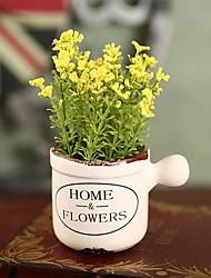 hesapli -Yapay Çiçekler 0 şube Klasik / Tek Şık / Modern Vase Masaüstü Çiçeği