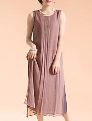 Недорогие -женский плюс размер пляж хлопок свободный сменное платье maxi