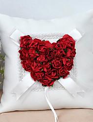 Недорогие -Ткань Цветы Атлас Кольцо подушки колец Подушка Все сезоны