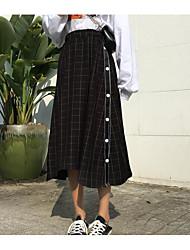 billige -kvinder går ud asymmetriske blyantkjoler - solidfarvet