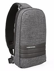 baratos -Mulheres Bolsas Poliéster Sling sacos de ombro Côr Sólida Cinzento Escuro / Cinzento Claro