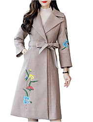 baratos -casaco longo de pele de coelho feminino - cor sólida