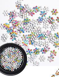 ieftine -1 pcs Multi Function Materiale ecologice Bijuterie unghii Pentru Crăciun Fulg nail art pedichiura si manichiura Crăciun / Zilnic La modă / Modă