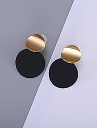 baratos -Mulheres Clássico Brincos Compridos - Simples, Na moda, Coreano Dourado Para Festa / Noite Bagels