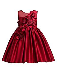 Χαμηλού Κόστους Black friday-Παιδιά Κοριτσίστικα Μονόχρωμο Αμάνικο Φόρεμα