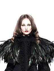 Недорогие -Черный лебедь Косплей Лолита Steampunk Punk Rave Костюм Жен. Накидка Черный Винтаж Косплей Полиэстер Без рукавов
