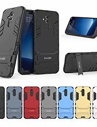Недорогие -Кейс для Назначение Huawei Huawei Mate 20 lite Защита от удара / со стендом Кейс на заднюю панель Однотонный Твердый ПК