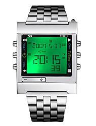 Недорогие -Жен. Спортивные часы Армейские часы электронные часы Японский Кварцевый Серебристый металл 30 m Защита от влаги Календарь Секундомер Цифровой Роскошь На каждый день Рождество - Серебряный / Два года