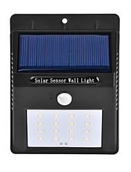 Недорогие -1шт 3 W Светодиодный уличный фонарь / Солнечный свет стены Работает от солнечной энергии / Инфракрасный датчик / Управление освещением Белый 3.7 V Уличное освещение 16 Светодиодные бусины