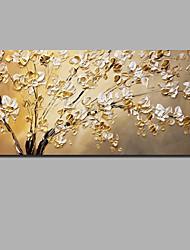 Недорогие -Hang-роспись маслом Ручная роспись - Абстракция Цветочные мотивы / ботанический Современный Modern Включите внутренний каркас / Рулонный холст / Растянутый холст