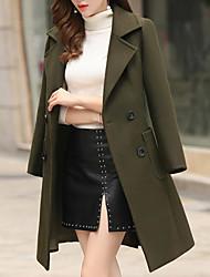 baratos -jaqueta longa para mulher - cor sólida