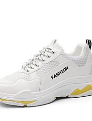 Недорогие -Жен. Сетка Осень На каждый день Спортивная обувь Беговая обувь На плоской подошве Круглый носок Черный / Желтый / Красный / Контрастных цветов
