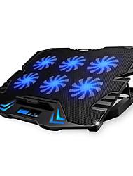 Недорогие -регулируемый светодиодный экран интеллектуальное управление ноутбук охлаждающая подставка с 5 вентиляторами