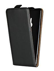 Недорогие -Кейс для Назначение Sony Xperia Z5 Mini / Xperia XA1 Ultra со стендом / Флип Чехол Однотонный Твердый Настоящая кожа для Sony Xperia Z3 / Z4 Mini / Sony Xperia Z4