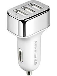 abordables -Newmine Automatique Chargeur pour auto / Allume-Cigare 3 Ports USB pour 5 V