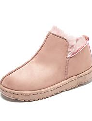 Недорогие -Жен. Искусственный мех Зима На каждый день Ботинки На плоской подошве Серый / Розовый / Темно-русый
