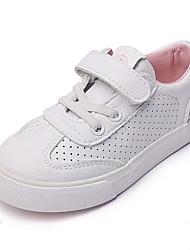 billige -Drenge / Pige Sko PU Forår / Sommer Komfort Sneakers for Børn Hvid / Blå / Lys pink