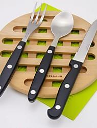 abordables -Vaisselle 3pcs Economique / Résistant à la chaleur / Design nouveau Plastique et métal / Acier inoxydable / Plastique Fourchette de table / Couteau de table 22*1.8/19.7*1.4/18.3*1.4 cm