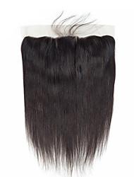 Недорогие -Бразильские волосы / Бирманские волосы 4X13 Закрытие Прямой Бесплатный Часть / Средняя часть / 3 Часть Корейское кружево Натуральные волосы Женский / Лучшее качество / Горячая распродажа