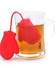 abordables -gants de noël infuseurs à thé feuille de silicium en vrac sac à café mug filtre passoire