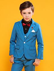 Недорогие -Темно-синий / Небесно-голубой Хлопок / Полиэфир / Вискоза Детский праздничный костюм - 1 комплект Включает в себя Жилетка