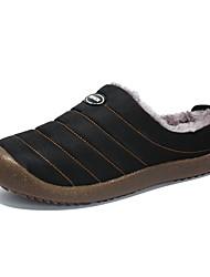abordables -Homme Chaussures de confort Coton Hiver Décontracté Chaussons & Tongs Ne glisse pas Noir / Bleu de minuit / Vert Véronèse