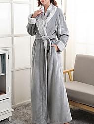 Недорогие -Жен. Глубокий V-образный вырез Сорочка / халат Пижамы Однотонный