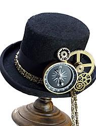 Недорогие -Косплей Доктор чумы Steampunk Костюм Все Шапки шляпа Черный / Коричневый Винтаж Косплей Хром Специальный материал