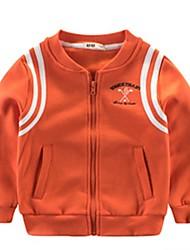 preiswerte -Baby Jungen Grundlegend Druck Langarm Polyester Jacke & Mantel Orange