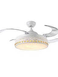Недорогие -QINGMING® Потолочный вентилятор Рассеянное освещение Окрашенные отделки Металл LED 110-120Вольт / 220-240Вольт Разноцветный