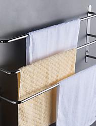 Недорогие -Современный 304 ванная нержавеющей стали три бара вешалка для полотенец полированной