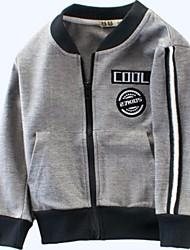 preiswerte -Baby Jungen Grundlegend Druck Langarm Polyester Jacke & Mantel Grau