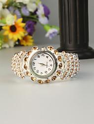 Недорогие -FEIS Жен. Часы-браслет Кварцевый Серебристый металл Секундомер Аналого-цифровые Дамы Мода - Кофейный